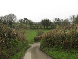 Lane leading out of St Neot