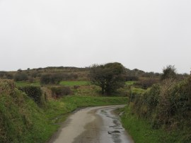 Approaching the end of the lane